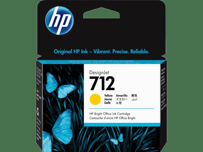 Cartucho de Tinta HP DesignJet 712 Amarillo de 29 ml