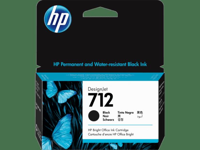 Cartucho de Tinta HP DesignJet 712 Negro de 38 ml