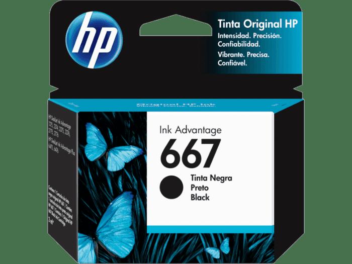 Cartucho de tinta HP Original Ink Advantage 667, negro