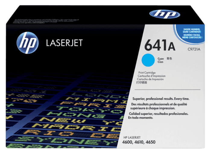 Cartucho de Tóner HP 641A Cian LaserJet Original