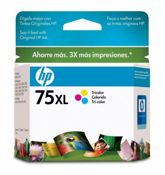 Cartucho de Tinta HP 75XL Tricolor Original
