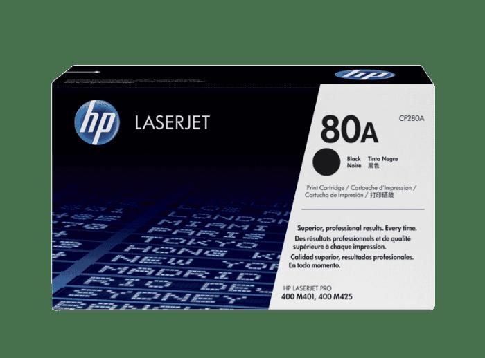 Cartucho de Tóner HP 80A Negro LaserJet Original
