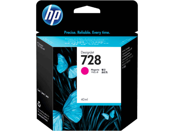 Cartucho de Tinta HP DesignJet 728 Magenta de 40 ml