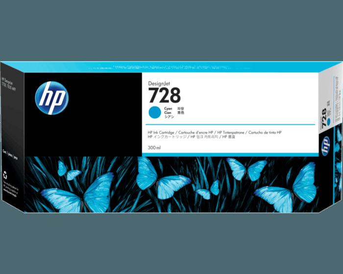 Cartucho de Tinta HP DesignJet 728 Cian de 300 ml
