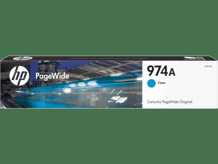 Cartucho de Tinta HP 974A Cian PageWide Original