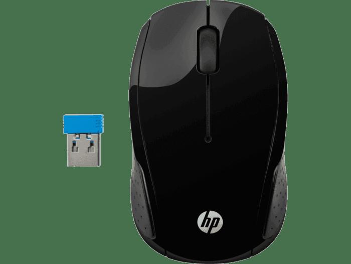 Mouse Inalámbrico HP 200 Negro