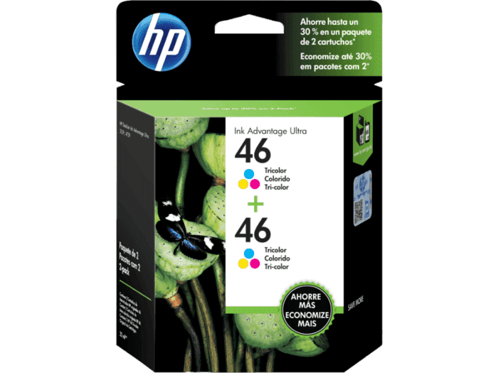 Pack de 2 Cartuchos de Tinta HP 46 Tricolor Advantage Original
