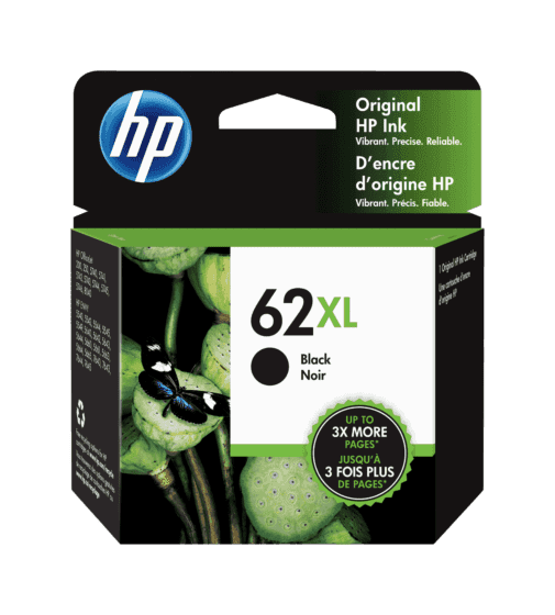 Cartucho de Tinta HP 62XL Negra Original
