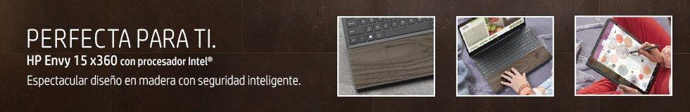 Laptops HP Envy x360 15 con procesador Intel   Espectacular diseño en madera con seguridad inteligente